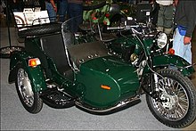 imz-ural motorcycle with leading link forks and sidecar