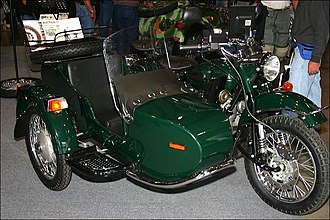 IMZ-Ural - IMZ-Ural motorcycle with Leading Link forks and sidecar