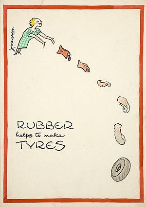 Fougasse (cartoonist) - World War II propaganda poster by Fougasse