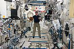 ISS-50 Shane Kimbrough with SPHERES in the Kibo lab.jpg