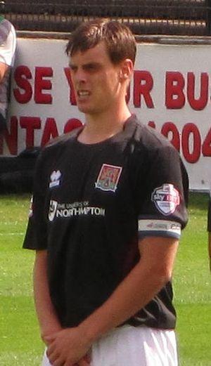 Ian Morris (footballer) - Morris playing for Northampton Town in 2013