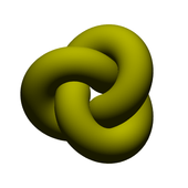A numeric approximation of an ideal trefoil.