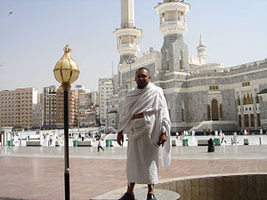 English: Wearing an ihram to perform umrah in ...