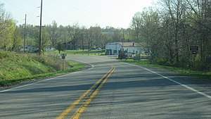 New Grand Chain, Illinois - Illinois Route 37 in the village