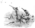 Illustration by Frank Feller for 'Marksmanship' by Gilbert Guerdon in the July 1894 'Strand Magazine' (pp.11-21)-Via Hathi Trust-Buffalo Bill Shooting at Glass Balls.png