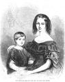 Illustrirte Zeitung (1843) 01 004 1 Die Herzogin von Orleans und der Graf von Paris.PNG