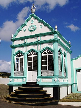 Cult of the Holy Spirit - A modern treatro or império in Porto Martins, Terceira