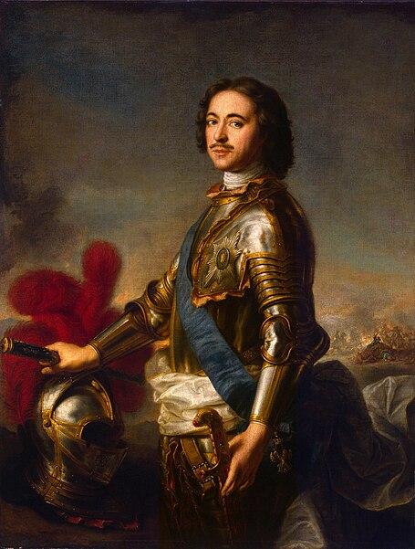 File:Inconnu d'après J.-M. Nattier, Portrait de Pierre Ier (musée de l'Ermitage).jpg