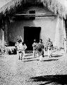 Indianer dansa utanför kyrkan. Moxos Province. Bolivia - SMVK - 002391.tif