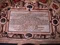 Inscription on Bess of Hardwick's memorial, Derby Cathedral - geograph.org.uk - 626240.jpg