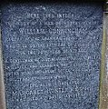 Inscription on William Cunningham's gravestone. Rector of Irvine Grammar. Died 1766. Old Parish Church.jpg
