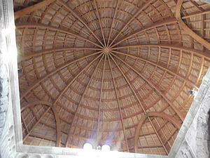 Umayyad Palace - The reconstructed dome of the monumental gateway
