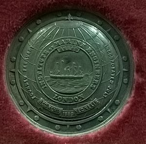 Institute of Marine Engineering, Science and Technology - Medal awarded to Robert Hadfield 1928