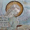 Interieur, detail van gewelfschildering in het koor, tijdens restauratie - Maastricht - 20382824 - RCE.jpg
