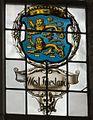 Interieur zuidbeuk, boven het ingangsportaal, detail van het gebrandschilderde raam- Het Laatste Avondmaal - Medemblik - 20528803 - RCE.jpg