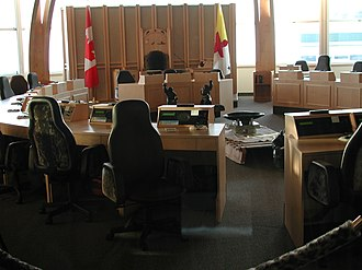 Legislative Assembly of Nunavut - Interior of the Legislative Assembly of Nunavut
