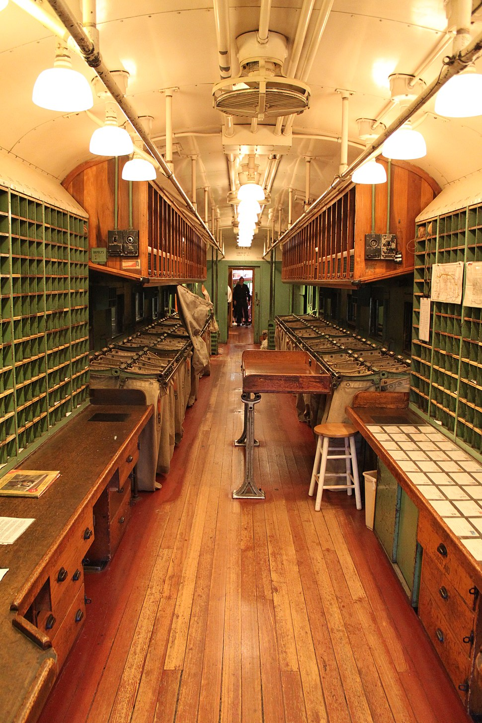Interior of Great Northern Railway Post Office Car 42