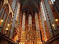 Interior of St. Mary basilica (Kraków, Poland 2014) (14136021988).jpg