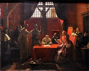 Interrogatoire de Savonarole by François Marius Granet
