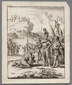 Isaac, koning van Cyprus, ligt geknield voor Richard Leeuwenhart, objectnr A 41624.tif