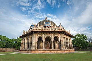 Tomb of Isa Khan Mausoleum in Delhi, India