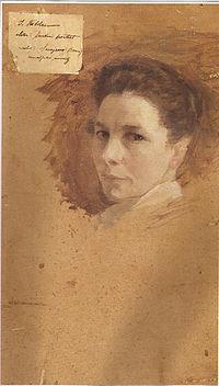 Ivana Kobilca - Avtoportret (zadaj).jpg