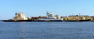 Katajanokka - The Finnish icebreaker fleet docked for the summer season on the northern side of Katajanokka