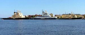 Finnish maritime cluster - Six Finnish icebreakers docked for the summer season at Katajanokka, Helsinki