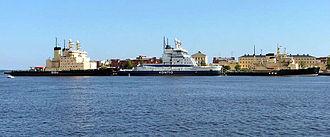 Katajanokka - The Finnish icebreaker fleet docked for the summer season on the northern side of Katajanokka