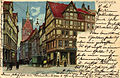 J. Miesler PC 0085 Hannover Kramerstrasse u. Marktkirche. Bildseite Lithografie.jpg
