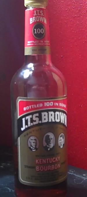 J.T.S. Brown - A 750 ml bottle of J.T.S. Brown bottled in bond