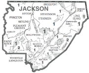 Jackson-County-AL-census-map