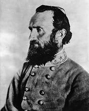 Stonewall Jackson wearing the generic insignia of a Confederate General Officer