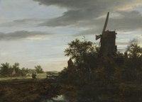 Jacob van Ruisdael - Landscape with a Windmill - 1967.19 - Cleveland Museum of Art.tiff