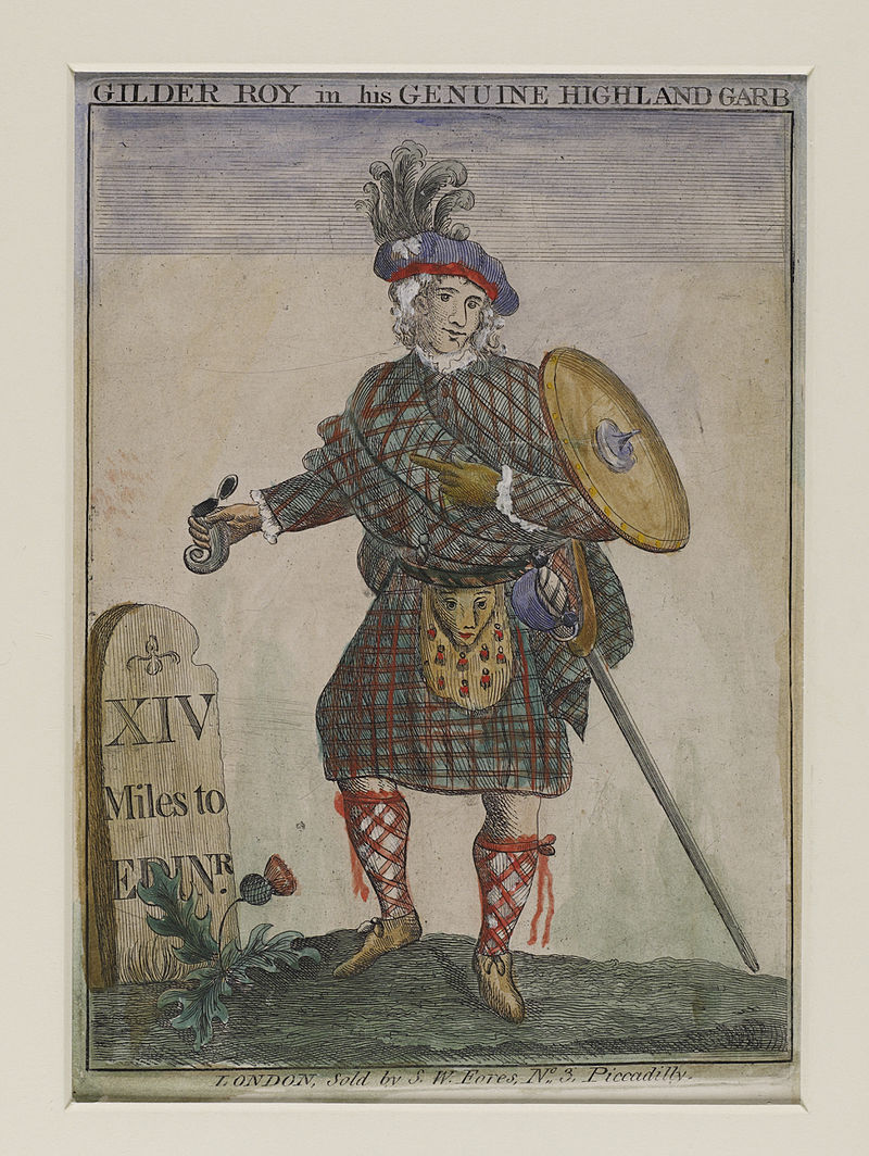 Jacobite broadside - Gilder Roy in his genuine Highland Garb.jpg