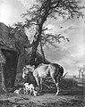 Jan (II) Kobell - Een paard en drie geiten voor een schuur - SA 1826 - Amsterdam Museum.jpg