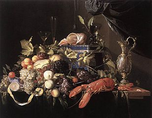 Still Life with Fruit and Lobster