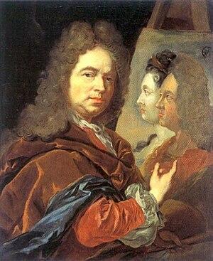Jan Frans van Douven - Self-portrait, c.1715