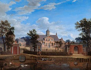 The Château of Goudestein, on the River Vecht, near Maarsen