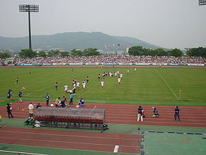 Japan national rugby union team - Japan play Tonga at Honjo stadium on 4 June 2006