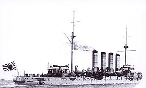 Russian cruiser Varyag (1899) - Varyag in Japanese service as Soya.