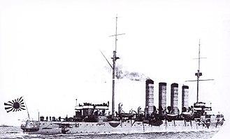 Russian cruiser Varyag (1899) - Varyag in Japanese service as Soya.