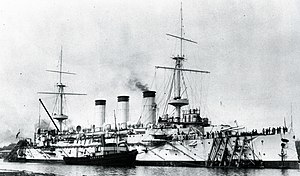 Japanese cruiser Yakumo on completion.jpg