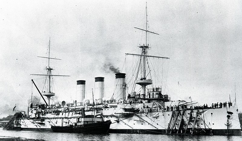 File:Japanese cruiser Yakumo on completion.jpg