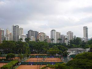 Esporte Clube Pinheiros - View across the tennis courts.