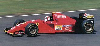 Ferrari 412 T2 - Jean Alesi driving the 412 T2 at the 1995 British Grand Prix.