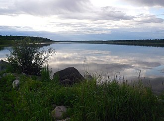 Jean Marie River - Image: Jean Marie River Mackenzie River