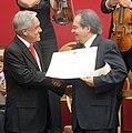 Jefe de Estado entregó los Premios a la Música Nacional Presidente de la República (5365215110).jpg