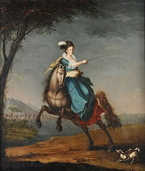 Carlota Joaquina of Spain - Queen Carlota Joaquina equestrian portrait in display at the Imperial Museum of Brazil