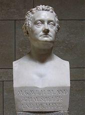 Johann Gottfried Schadow: Porträtbüste August Wilhelm Iffland (1807) (Quelle: Wikimedia)